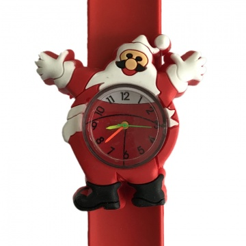 Kerstman horloge slap on