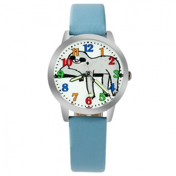 Luiaard horloge glow in the dark