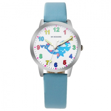 Walvis horloge glow in the dark
